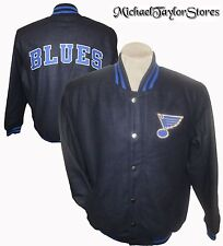 St. Louis Blues Men's Embroidered Wool Jacket with Snaps