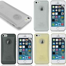 SLIM GLITTER FROSTED BACK CASE COVER SKIN FOR IPHONE 5 5S WITH SCREEN PROTECTOR