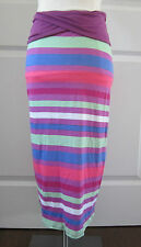 Splendid Girls Skirt Striped Maxi Skirt HI-Lo Hem 10 & 12 NWT $70