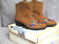 NEW $80 MUDD Brown Cowboy Western Cheyenne Ankle Boots Assorted Sizes
