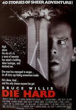 """""""DIE HARD""""..Bruce Willis Alan Rickman Classic Action Movie Poster A1A2A3A4Sizes"""