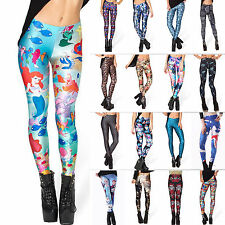 Sexy Women's 3D Digital Printing Stretch Skinny Leggings Tights Pants