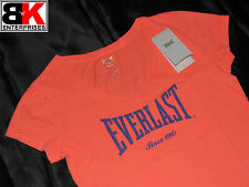 """Everlast T-Shirt Womens Coral """"Authentic V Neck"""" BNWT"""