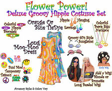 Hippie 1960's 1970's PLUS SIZE Hippy Halloween Costume Reg/Tall Lg to 9x