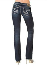 New Silver Womens Jeans Twisted Bootcut Silvers Plus 24X31