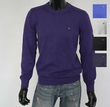 New Mens TOMMY HILFIGER Sweater C Neck Jumper Cotton Colours Size L