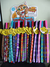 Stretchy fun Beastie Band cat/kitten collars with velcro closing various designs