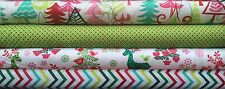 Bundle Michael Miller Christmas Fabric - Yule Trees Nordic Holiday - Choose size