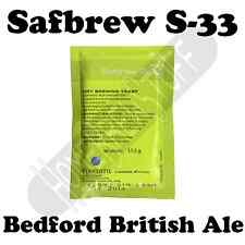 1-12PK FERMENTIS SAFBREW S-33 BRITISH Ale Home Beer Cider Brewing Yeast Homebrew