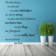 In this house We Do, Are Home Text Quote Wall Sticker Vinyl Art Decor Decal Sign