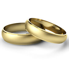 Matching Wedding Rings His And Hers 9ct Yellow Gold Bands Diamond Cut