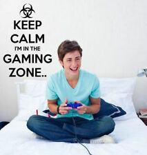 'Keep Calm I'm in the Gaming Zone' - Gamers Room Wall Decor & Wall Sticker