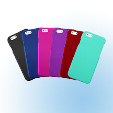 Thin Rubberized Hard Plastic Snap-on Case Cover Protector for Apple iPhone 6