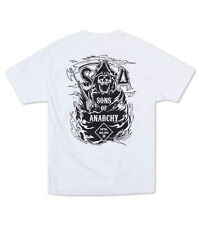 METAL MULISHA SONS OF ANARCHY SONS SKULL REAPER OPTIC WHITE T TEE SHIRT S-2XL