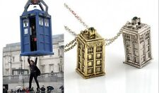 New Arrival Retro Necklace Doctor Who 3D SPINNING TARDIS Police Box Tall Pendant