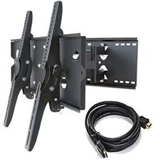 "HEAVY DUTY Universal Dual Arm Armed Tilt Swivel TV Wall Mount Bracket 30"" - 90"""