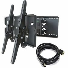 "HEAVY DUTY Universal Dual Arm Armed Tilt Swivel TV Wall Mount Bracket 30"" -  85"""