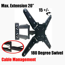 "Universal TV Wall Mount Bracket Full Motion Swivel & Tilt for Screens 26"" to 55"""