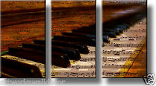 On Wood: Piano Music Notes Vintage Picture, Wall Art Décor, Ready to Hang!