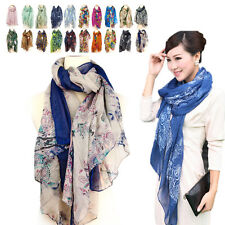 New Women's Pashmina Soft Wrap Shawl Chiffon Scarf Long Voile Stole