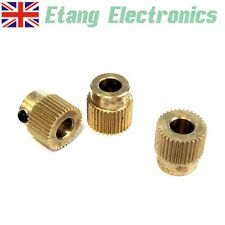 Brass Drive Gear for 1.75mm & 3mm Filament 3D Printer - Extruder Grip Teeth Pull