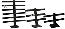 WOODEN BLACK EARRING DISPLAYS T BAR DISPLAY STANDS JEWELRY COUNTERTOP DISPLAYS