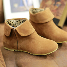 New Womens Boots Plus Size Winter Boots Faux Suede Snow Ankle Boots Shoes HOT