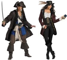 COUPLES PIRATES OF CARRIBEAN CAPTAIN JACK SPARROW AND ANGELICA ADULT COSTUME