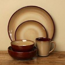 Dinnerware Sets 40 Piece Stoneware Dishes Bowls Coffee Cups Plates Tableware