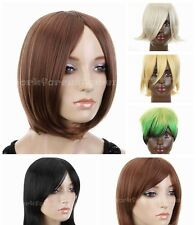 Fashion Women/Men Short Brown/Yellow/Sliver Gray/Blue Mix 7 Color Of Choice Wigs
