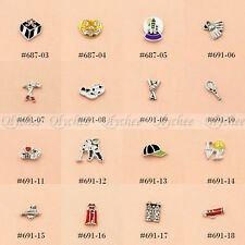 1pc Floating Charms Soccer Golf  Halloween For Glass Living Memory Lockets New