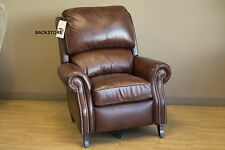 Barcalounger Churchill II Genuine Double Fudge Leather Recliner Lounger Chair
