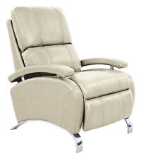 Barcalounger Oracle II Genuine Leather Recliner Lounger Chair - Stargo Cream