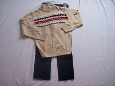 NWT Boy's Gymboree Ski Cabin sweater & blue corduroy pants ~ 4 5 6 slim