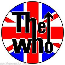 THE WHO / UNION JACK MOD ROUNDEL TARGETS PRINTED VINYL STICKER - CHOICE OF SIZES