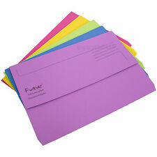 15 x Colour Foolscap Document Wallets 300gsm Thick Card Files A4 Paper Folders