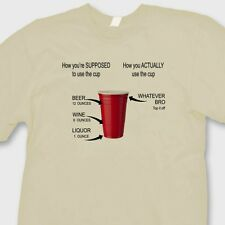 RED SOLO CUP How To Use T-shirt Funny College Party Drinking Tee Shirt