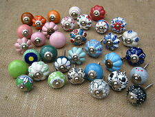 Vintage Ceramic Knobs - Green, Blue, Red, Pink, B&W FIXED POSTAGE £2.80
