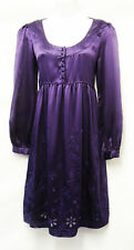 New Edwardian Vtg 1920's / 30's Gatsby Downton Abbey Purple Silk Cocktail Dress