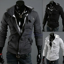 New Korean Top Fashion Men's Slim Designed Hooded Cardigan Coat Jacket Warm Fit