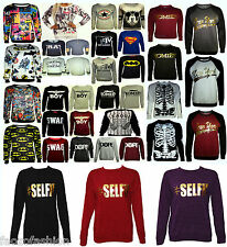 New Womens New Ladies COMIC Print Sweatshirt Jumper Pullover Top  Size 8-14