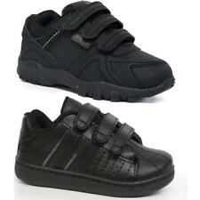 BOYS BLACK SCHOOL SHOES INFANTS GIRLS SKATE TRAINERS BACK TO SCHOOL SIZE