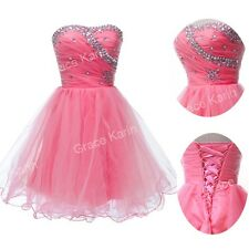XMAS GIFT Girls Beaded Flower Homecoming Prom Cocktail Short Party Evening Dress