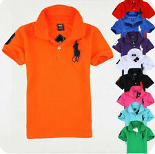 2014 Children's cotton short-sleeved Boys polo T-shirt 9 Color 2-7Y