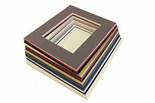 """5x7"""" picture photo mounts with a twin 5x3.5"""" aperture 22 colour choice"""