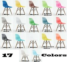 Walnut Legs  Eames Inspired Eiffel Plastic DSW Lounge Dining Chairs - Retro