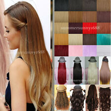 Professional CLIP IN HAIR EXTENTIONS one piece 3/4 FULL HEAD Wavy/straight US ss