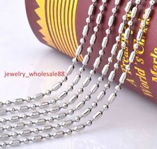 Lot 100 Meters More Stainless Steel Ball Rice Beads Chain Finding DIY Jewelry