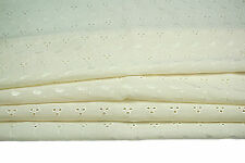 """Unotrim POLY65 COTTON35 EMBROIDERED EYELET LACE ALLOVER FABRIC  40""""-41"""" IVORY-"""