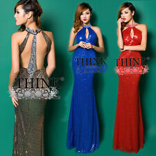 Formal Long Homecoming Lady Cocktail Sequins Prom Dresses Mermaid Evening Gown